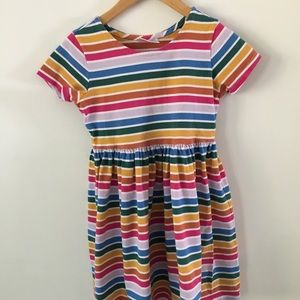 Hanna Andersson dress in rainbow stripes size 8